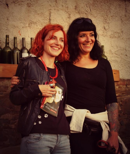 Famous Croatian author and archeologist Rujana Jeger with host